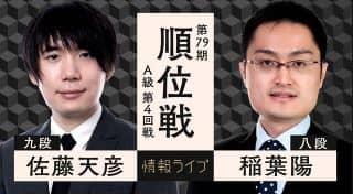 佐藤天彦九段vs稲葉陽八段