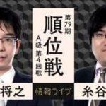 第79期 順位戦 A級 第4回戦 豊島将之竜王vs糸谷哲郎八段の対局速報!中継と日程