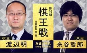 渡辺明棋王vs糸谷哲郎八段