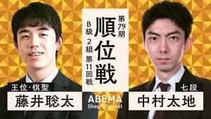 藤井聡太二冠vs中村太地七段