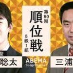 第80期 順位戦 B級1組 藤井聡太二冠vs三浦弘行九段の対局速報!中継と日程