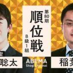 第80期 順位戦 B級1組 藤井聡太二冠vs稲葉陽八段の対局速報!中継と日程