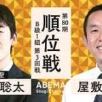 第80期順位戦B級1組 藤井聡太二冠vs屋敷伸之九段の対局速報!中継と日程